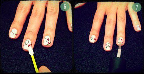 Step 6 e 7: crea le luci e fissa la nail art!