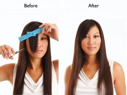 Come spuntare i capelli scalati da sola