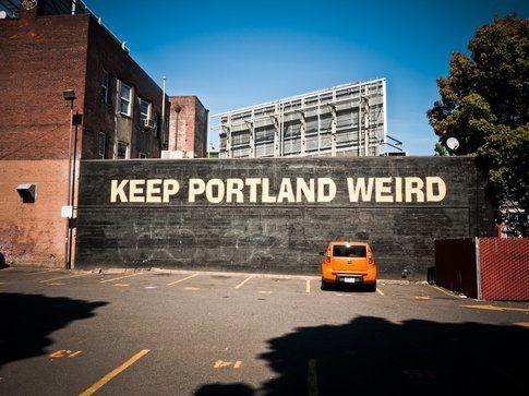 """Una frase diventata simbolo di Portland: """"mantieni Portland bizzarra"""""""
