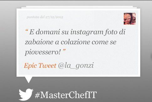 Epic tweet by MasterchefIt