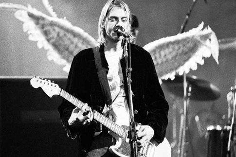 Kurt Cobain live - foto da VantiyFair