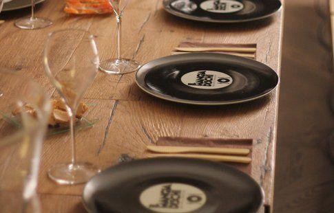 la tavola del mangiadischi (credits photo Aromi Creativi)