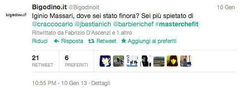 "tweet @BigodinoIt entrato anche negli ""Epic tweet"" di Masterchef"