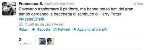tweet @MilanoLovesFood