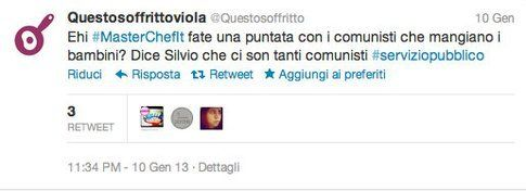 tweet di @questosoffritto