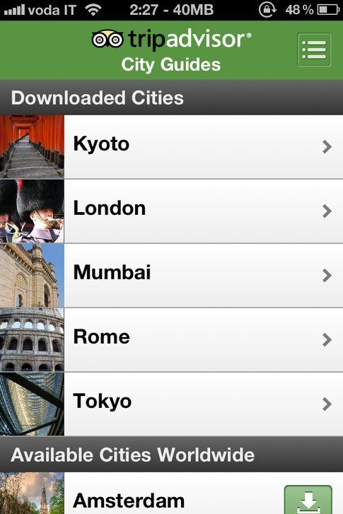 Tripadvisor Offline City Guides