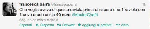 tweet polemica costo raviolo, in periodo di crisi...