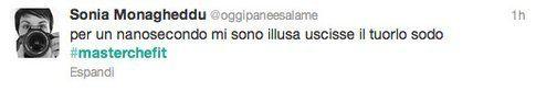 Tweet di Sonia Monagheddu per Tiziana, l'avvocato