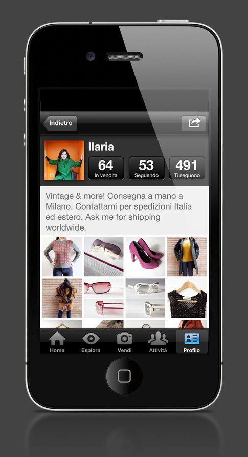 Profilo utente con gli oggetti in vendita