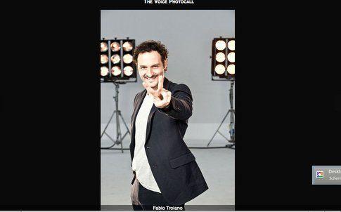 Fabio Troiano - screenshot da sito ufficiale The Voice of Italy
