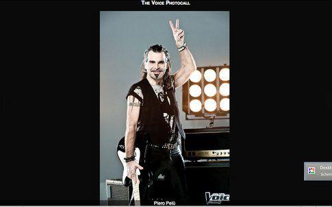 Piero Pelù - screenshot da sito ufficiale The Voice of Italy