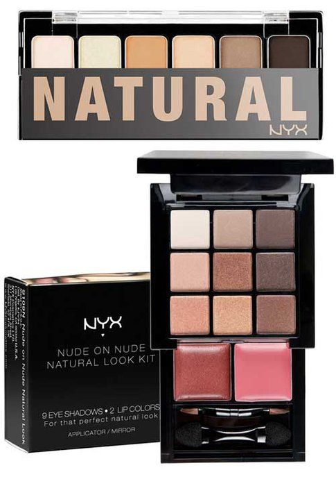 NYX The Natural Shadow Palette e Nude Nn Nude Natural Look Kit