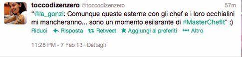 tweet di @toccodizenzero