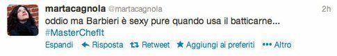 tweet di @martacagnola