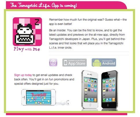 Coming soon: Tamagotchi L.I.F.E - Fonte: tamagotchilife.com