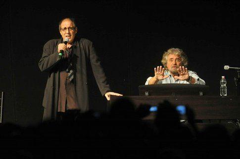 Celentano e Grillo - foto da kataweb
