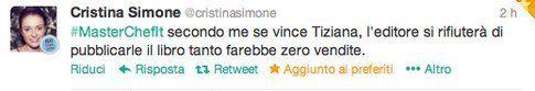 tweet di @cristinasimone