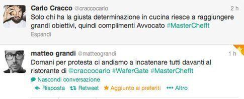 tweet di @matteograndi e @craccocarlo