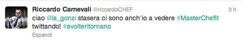 tweet di @riccardochef