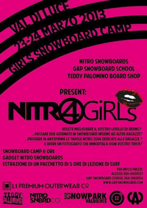 Nitro4Girls in Val di Luce dal 23 al 24 marzo