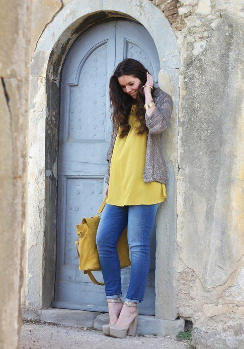 Il mio outfit della settimana: in giallo e paillettes