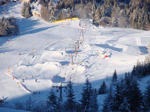 Lo snowpark di Monte Bondone