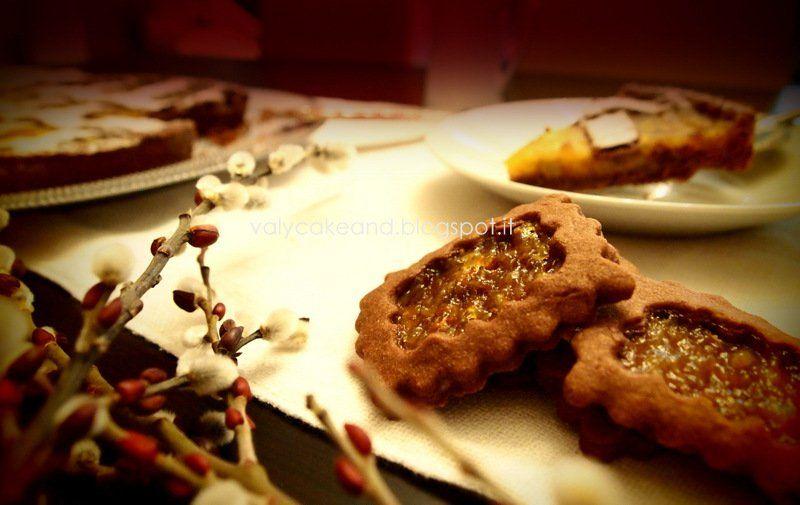 biscotti di pasta frolla arancia e cioccolato