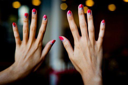Halfmoon DIY nail art