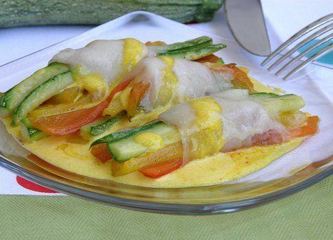 Fascine di verdure con pancetta affumicata e Montasio, su salsa di zafferano (Giordana Talamona)