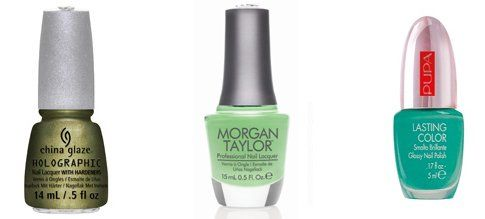 China Glaze OMG a Ufo, Morgan taylor MintChocolateChip, Pupa 742 50's dream lasting color