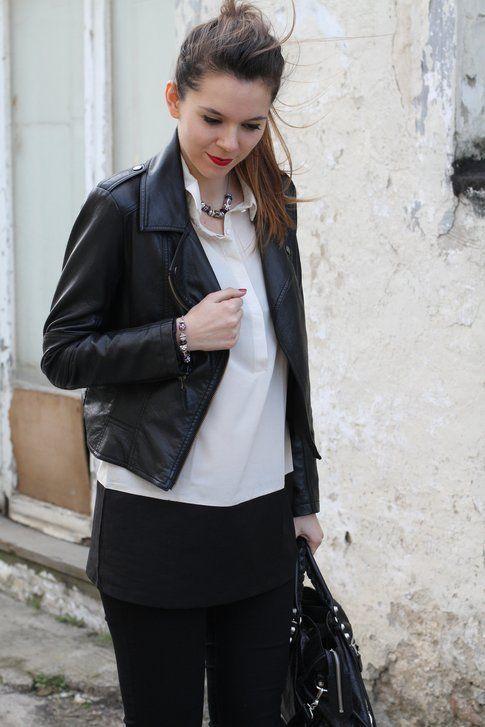 Outfit bianco e nero con accessori Morellato Collezione Drops