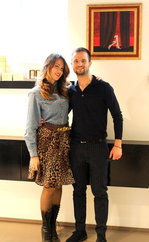 con Marco Cimino, hairstylist