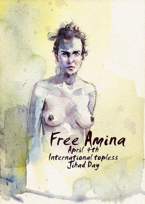 La locandina di Free Amina - foto sito ufficiale Femen