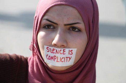 Foto dal diario Facebook di Muslim Women against Femen