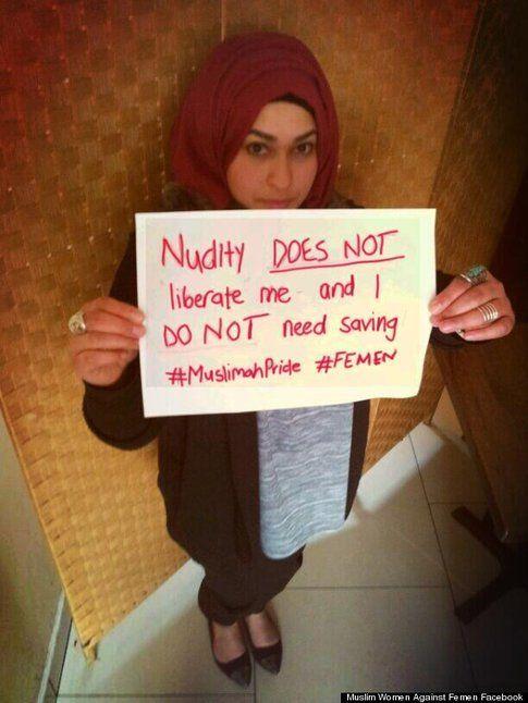 Foto da Facebook Muslim Women against Femen