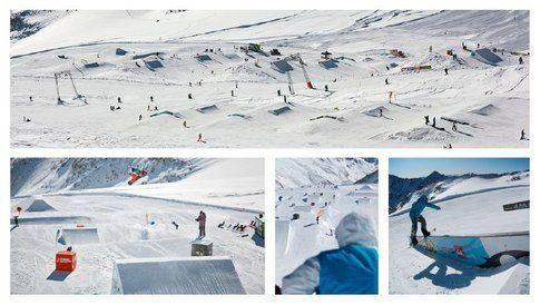 Condizioni perfette sul ghiacciaio austriaco. Foto di Moreboards Stubai Zoo