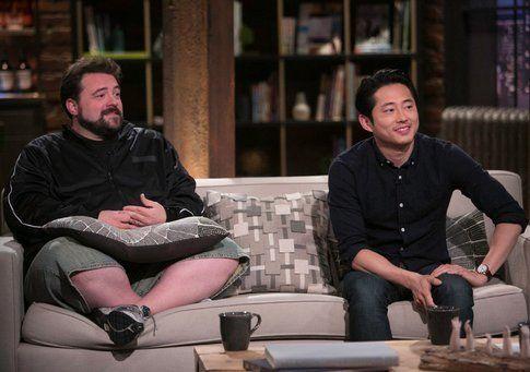 Kevin Smith e Steven Yeun (Glenn Rhee) - foto via AMC