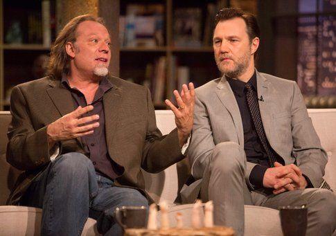 Greg Nicotero (co-produttore esecutivo) e David Morrissey (Il governatore)- foto Amc