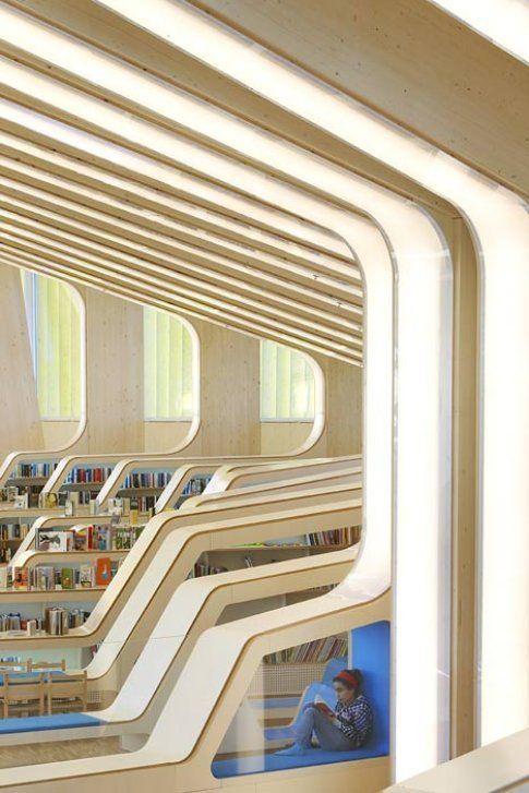 Biblioteca e casa della cultura di Vennesla, in Norvegia