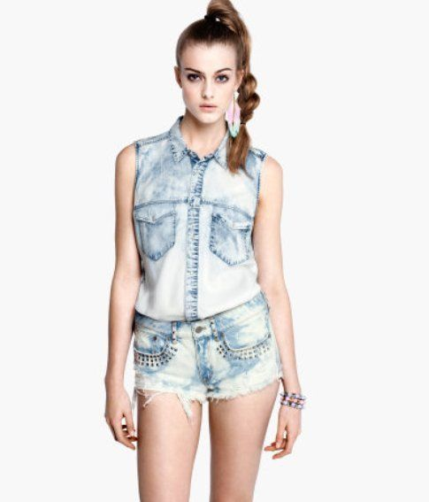 total look in denim H&M