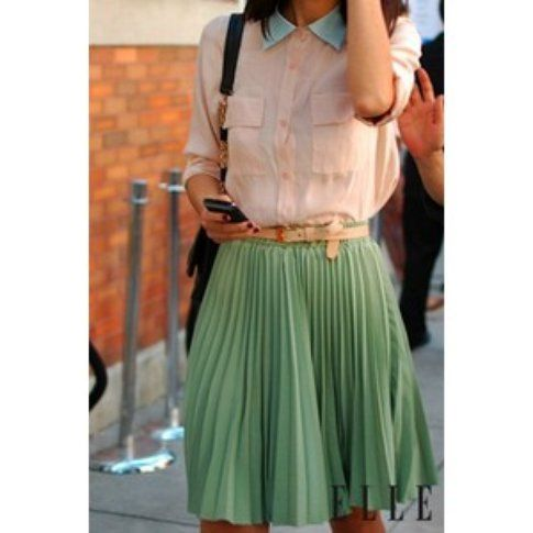 Outfit in colori pastello - Fonte: elle.it