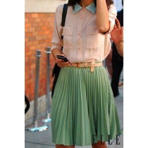 Outfit in colori pastello - Fonte: elle.it