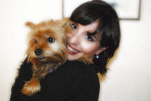Stefania Fiorillo con il suo cagnolino
