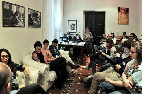 Un momento dell'incontro con (Credits Photo Alessandro Vitale)