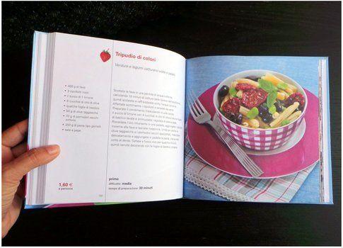 L'interno del libro con la ricetta di copertina del volume