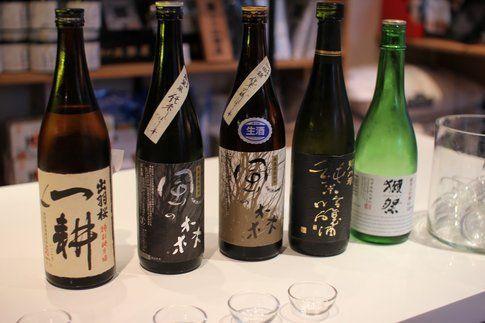 diverse tipologie di sake (foto da www.laviadelsake.it)