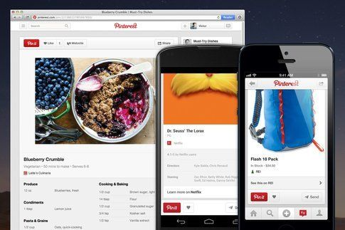 Pinterest: nuove funzionalità. Credits: www.marketingando.wordpress.com