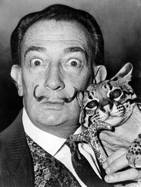 il gatto e Dalì. Photo credit: Roger Higgins