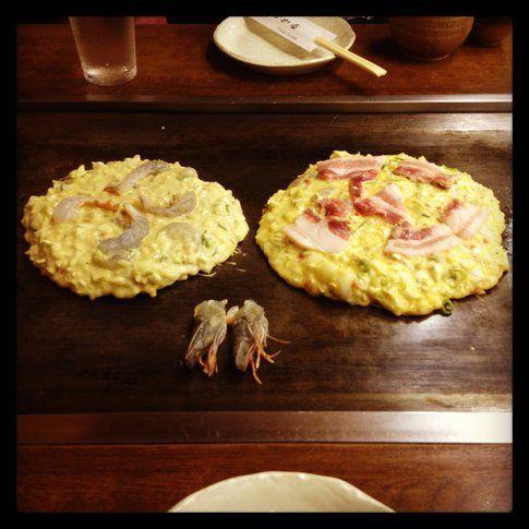 Okonomiyaki in cottura - Foto di Simona Forti