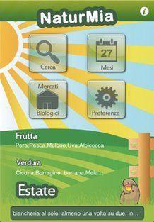 La schermata principale nell'applicazione NaturMia
